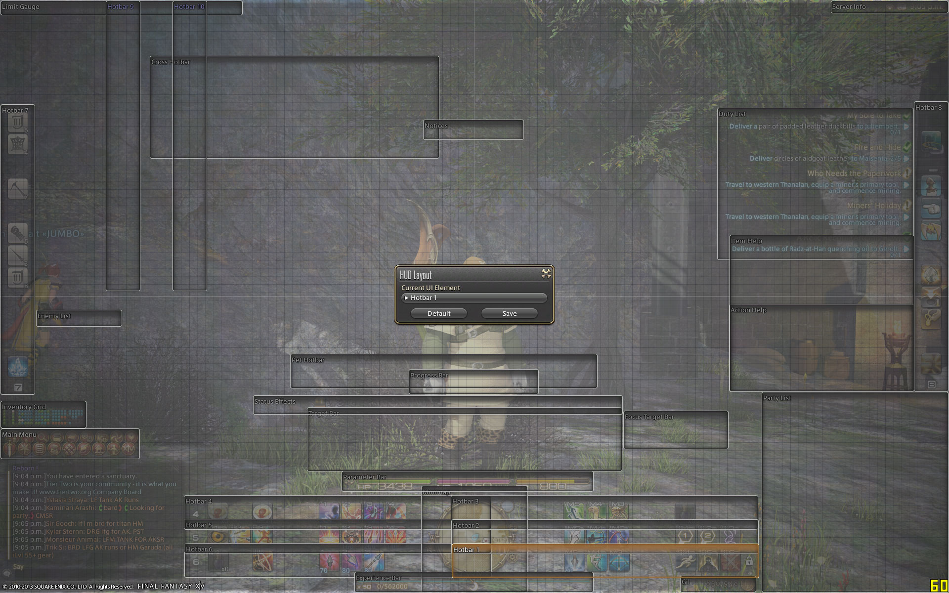 And by popular demand, here's the HUD layout.